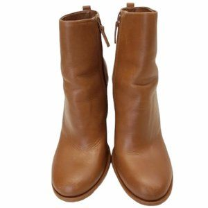 Authentic TORY BURCH Brown Leather Ankle Boots